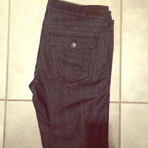 Dark blue navy True religion jeans